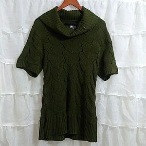 WORTHINGTON Short Sleeve Tunic Sweater LG